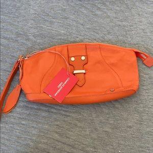 CHARLES JOURDAN PARIS orange clutch - NWT